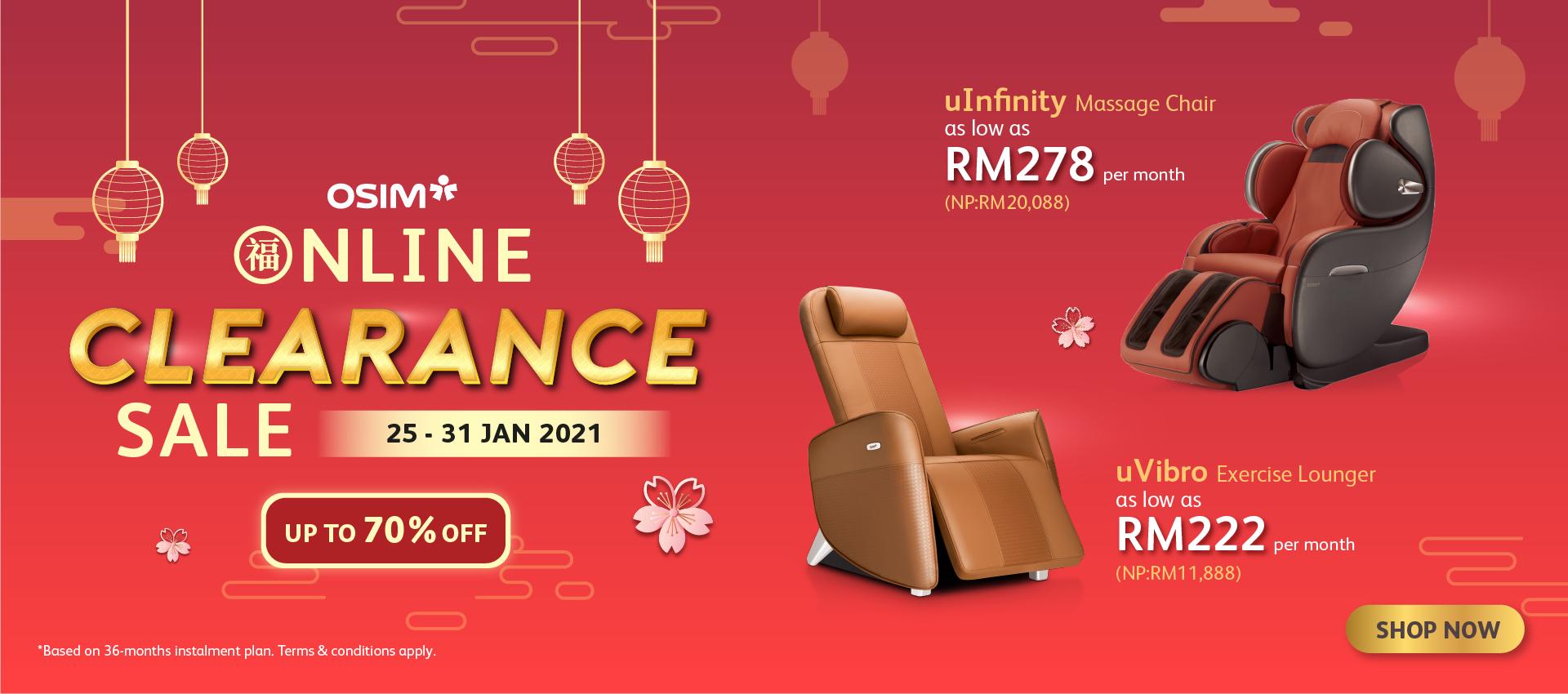 Online Clearance Sale (25 - 31 Jan 2021)