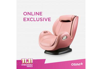 uDivine Mini Massage Sofa (Pink) - OSIM X UOB